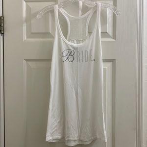 Victoria's Secret Bride white tank, soft! Size M